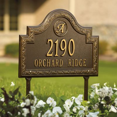 Stratford Lawn Address Plaque Frontgate