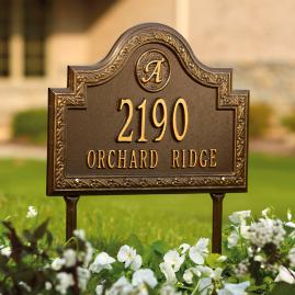 Stratford Lawn Address Plaque