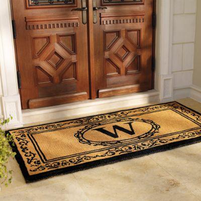 Monogrammed Floor Mats >> Hudson Monogrammed Door Mat | Frontgate