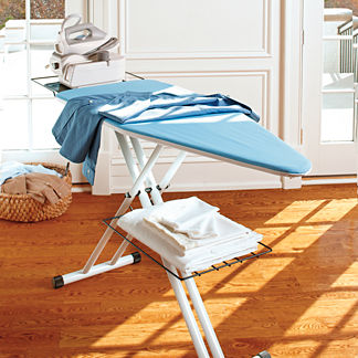 Deluxe Ironing Board with Iron Holder
