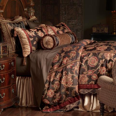 brown duvet set cassandra bedding collection frontgate