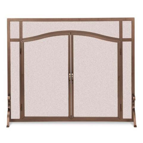Custom Arched-top Forged Fireplace Screens | Frontgate