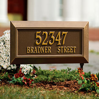 Farrington Standard Address Plaque