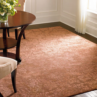 Damask Wool Area Rug