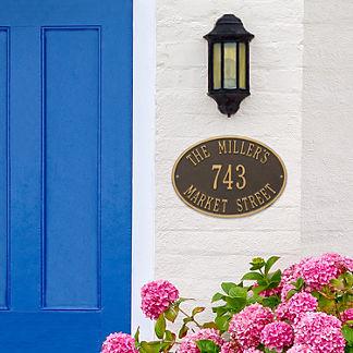 Hawthorne Standard Wall Address Plaque