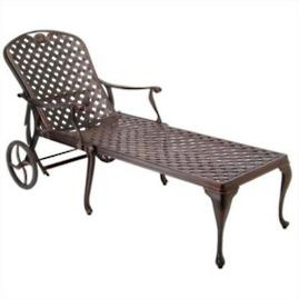 Provence Chaise Lounge with Cushions by Summer Classics