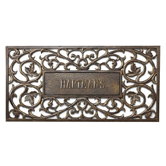 Personalized Filigree Rectangle Entry Mat