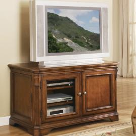 Entertainment Console with Interchangeable Panels