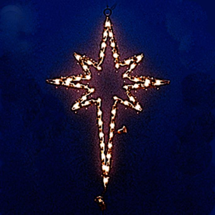 Lighted outdoor nativity scene frontgate lighted star of bethlehem mozeypictures Images