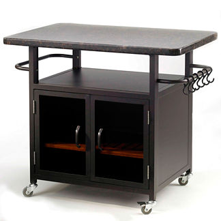 Bistro Grill Cart with Granite Top