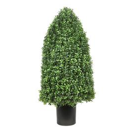 "33"" Outdoor Rounded Cone Boxwood Topiary"