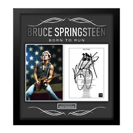 "Bruce Springsteen Signed ""Born to Run"" Lyrics Collage"