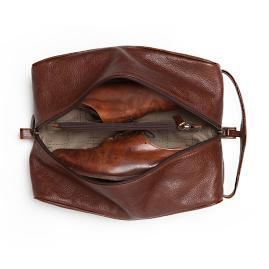 Stephon Leather Shoe Bag by Moore and Giles