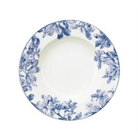 Caskata Blue Arbor Soup Bowls, Set of Four