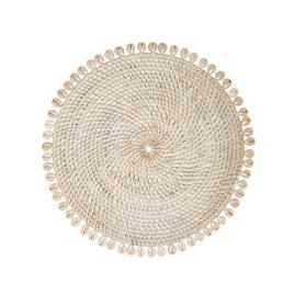 Capiz Woven Rattan Placemats, Set of Four