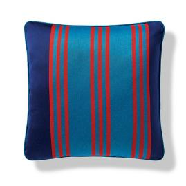 Brighton Stripe Indoor/Outdoor Pillow in Peacock