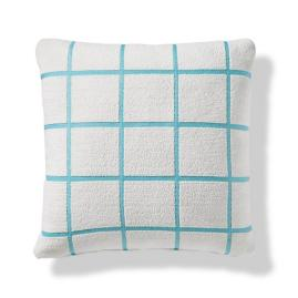 Renzo Grid Indoor/Outdoor Pillow - Aruba