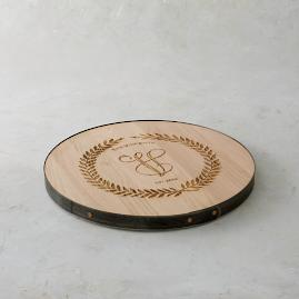 "Personalized 18"" Leafed Lazy Susan"