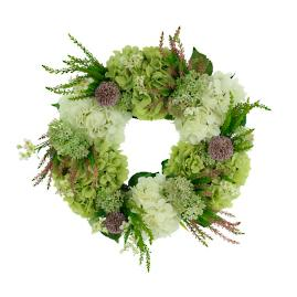Hydrangea, Cedar and Cherry Blossom Wreath