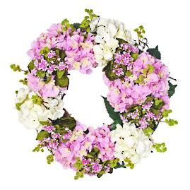 Hydrangea, Moss and Kalanchoe Wreath