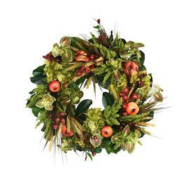 Hydrangea, Heather, Pomegranate and Berry Wreath