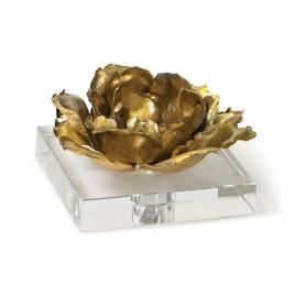 Gold Leaf Blossom Sculpture