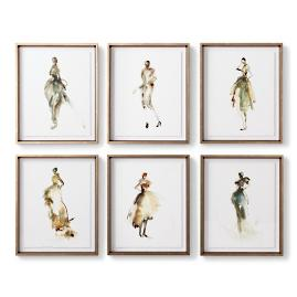 Mademoiselle Fashion Giclée Prints