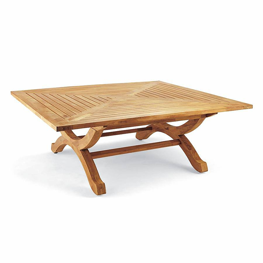 Square Teak Coffee Table In Natural Finish Frontgate