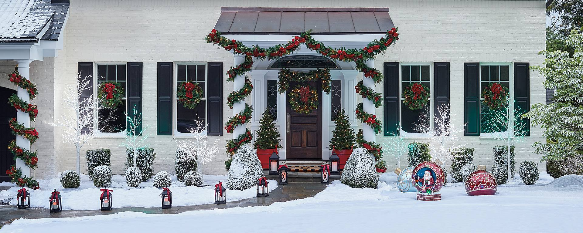 theres nothing that brings more joy to homeowners and passersby alike than a dazzling outdoor christmas display whether you go nuts with the lights - Joy Outdoor Christmas Decoration