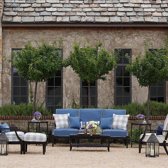 Lattice Sofa with Cushions by Summer Classics