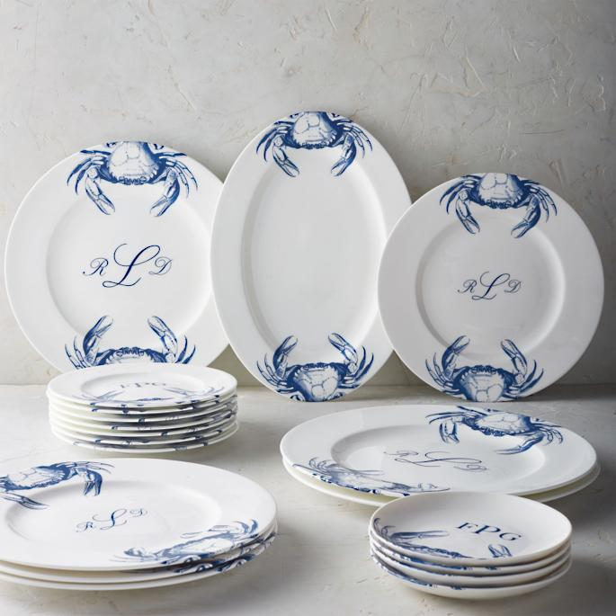 Caskata Crab Chargers Set of Two & Caskata Crab Dinnerware | Frontgate