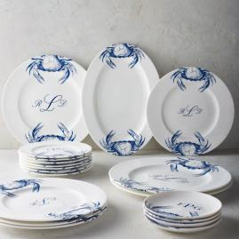 Caskata Crab Dinnerware & Premium Round Personalized Dinner Plates | Frontgate
