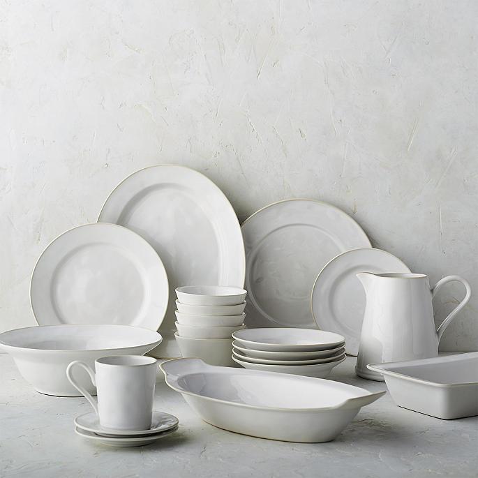 Costa Nova Astoria Chargers in White Finish Set of Two & Costa Nova Astoria Dinnerware in White Finish | Frontgate