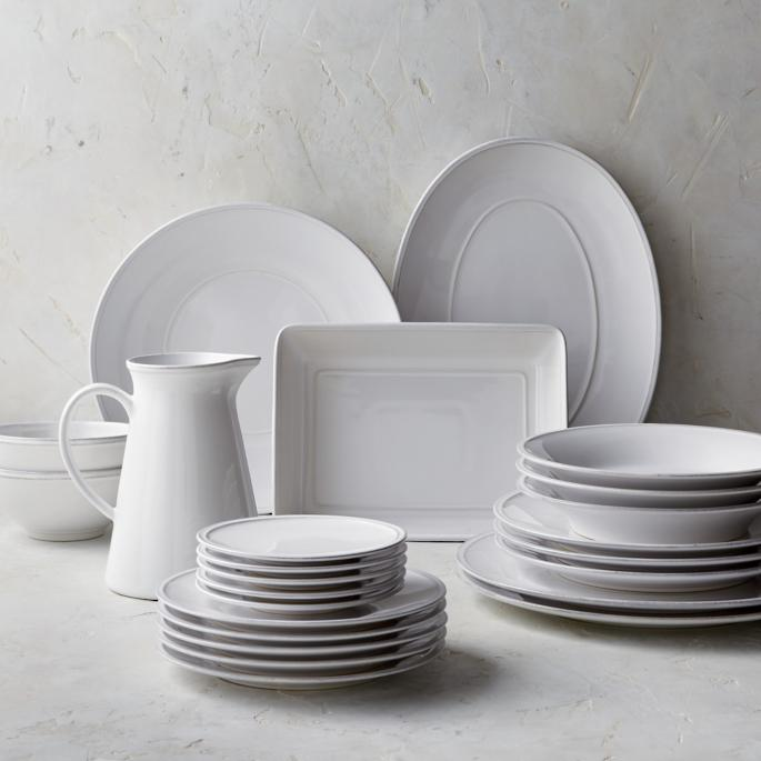 Costa Nova Friso Charger Plates in White Set of Two & Costa Nova Friso Dinnerware Collection in White | Frontgate