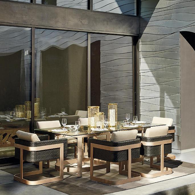 Mercer rectangular dining table