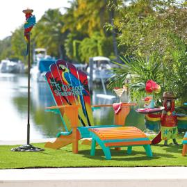 Margaritaville 5 Ou0027Clock Somewhere Adirondack Chair And Ottoman