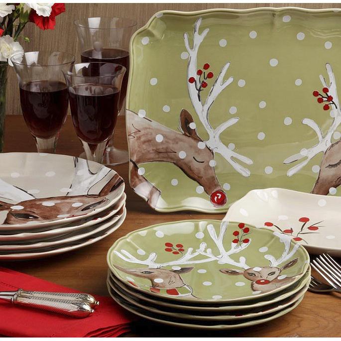 Casafina Deer Friends Dinner Plates Set of Four & Casafina Deer Friends Dinnerware | Frontgate