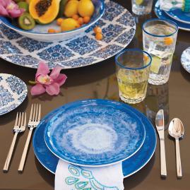 Reactive Blue Dinnerware & Mediterranean Tile Dinnerware   Frontgate