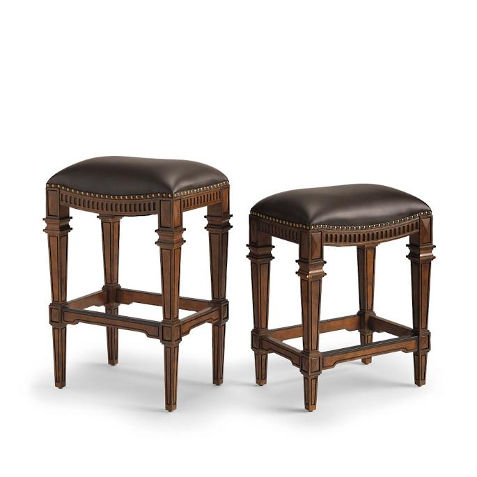 leather counter stools backless linwood backless bar and counter stools frontgate 6890