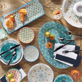 Kavala Dinnerware and Serveware & Transcendence Melamine Dinnerware | Frontgate