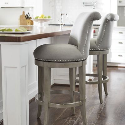 kitchen island chairs with backs ellison swivel bar and counter stools frontgate 8162