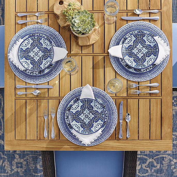 Mediterranean Style Dinnerware: Mediterranean Tile Dinnerware