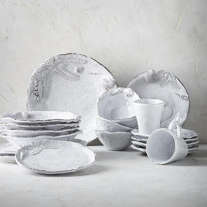 Arte Italica Marina Dinner Plates, Set of Four