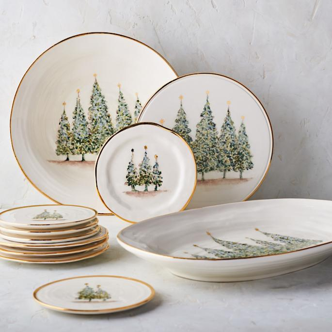 Natale Gold Tableware Collection & Vietri Old Saint Nick Dinnerware Collection | Frontgate