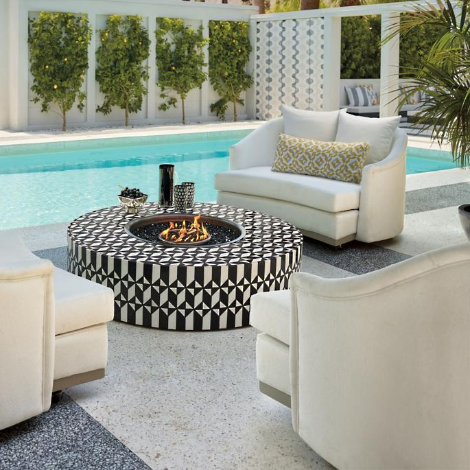 Arcadia Mosaic Tile Fire Table By Martyn Lawrence Bullard
