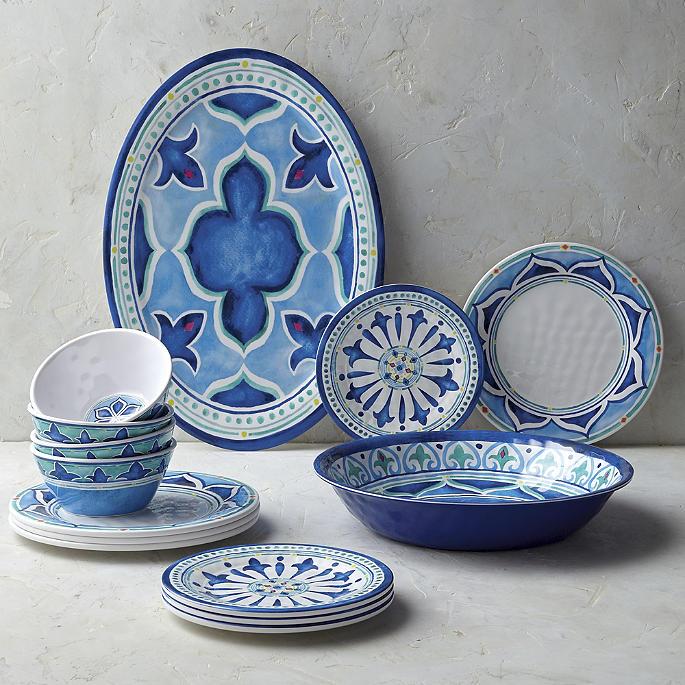 Mira Melamine 12-Piece Dinnerware Set & Mira Melamine Dinnerware Collection | Frontgate