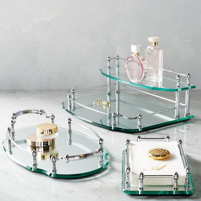 Lovely Belmont Personalized Vanity Trays | Frontgate IC48