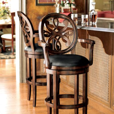 Kristina swivel bar and counter stools frontgate for High end bar stools swivel