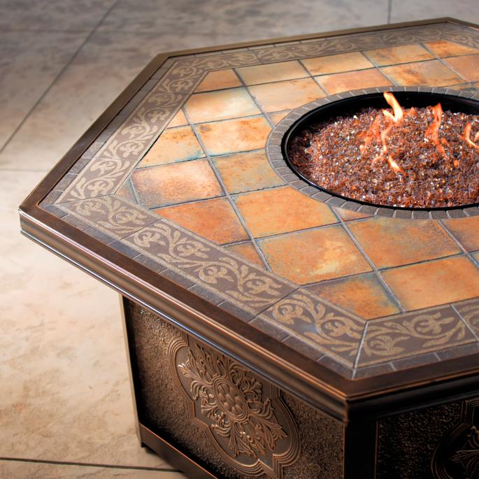Sienna Custom Gas Fire Table Frontgate