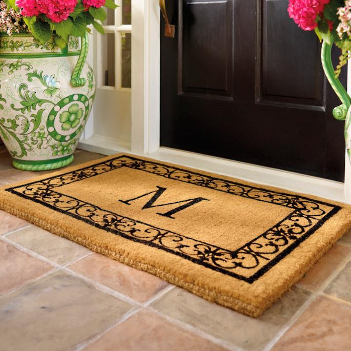 Wayland Monogrammed Coco Mat